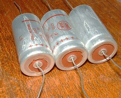 3 x Vintage look 4700uf 16V axial capacitor made by Ducati