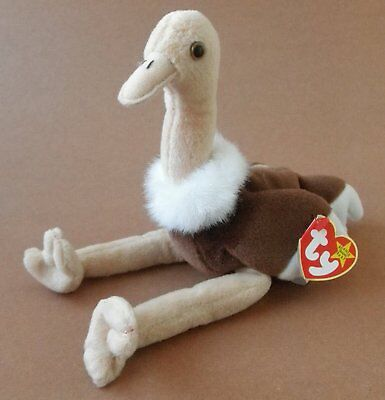 Ty Beanie Babies Stretch the Ostrich Plush