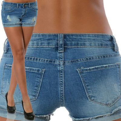 Damenmode Damen Jeans Hotpants Denim Shorts kurze Hose Hot