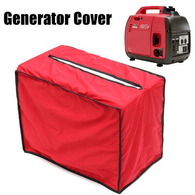 Polyester Red 340x562x475mm Waterproof Dustproof Generator Cover for Honda 2Kva