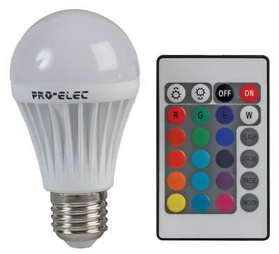 Colour changing LED Light Bulb E27 RGB SCREW IN REMOTE CONTROLLED Multi Coloured