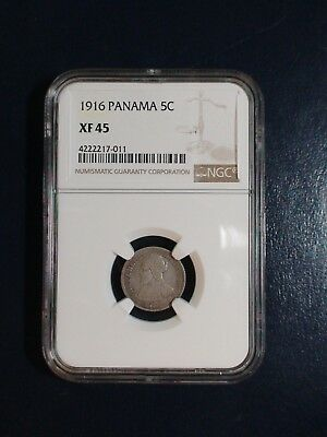 1916 PANAMA FIVE CENTESIMOS NGC XF45 RARE 5C Coin PRICED TO SELL QUICKLY!