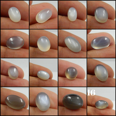 100% AAA+ Natural Milky Moonstone Cabochon  Amazing Loose Gemstones L#45