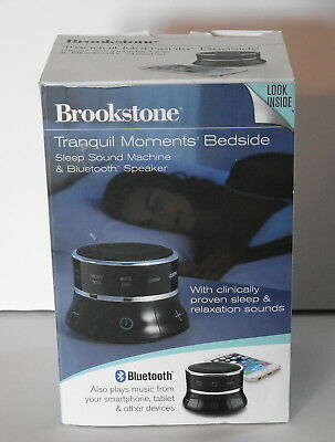 Tranquil Moments Bedside Speaker & Sleep Sounds Portable Bluetooth Speaker NEW