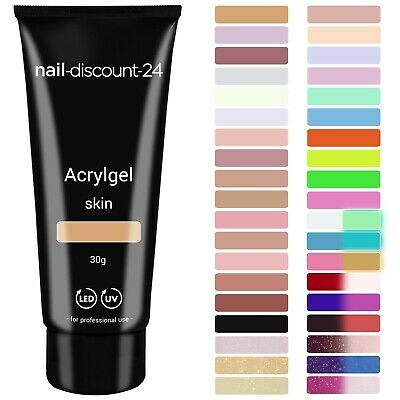 Poly AcrylGel Tube Dual System Primer Liquid clear milky cover rose white Pinsel