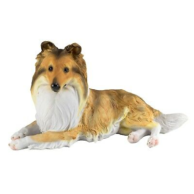 "Sheltie Shetland Sheepdog Collie Dog Figurine Statue 9.75"" Long Resin New In Box"