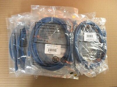 New Lot of 55 Monoprice Category 6 Patch Cord UTP CAT6-07-BLUE 7FT