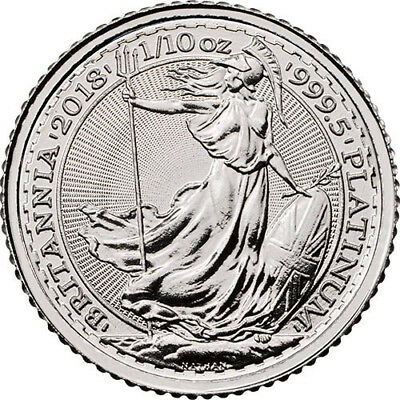 2018 Great Britain 1/10th Oz Platinum Britannia Coin