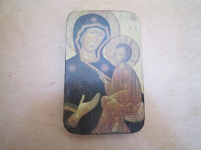 russian religous icon on wood