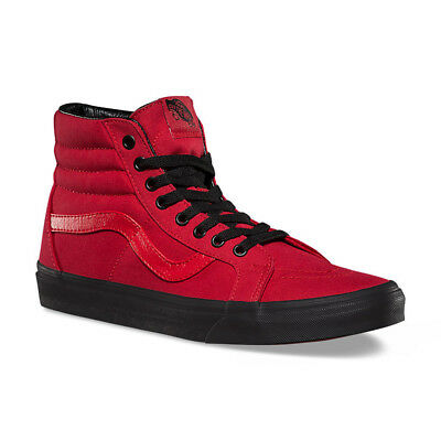 VANS SK8 Hi Reissue Red Black Sneakers Men Women Unisex Adult Shoes