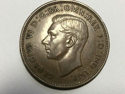 GREAT BRITAIN 1938 1 Penny coin extra fine condition