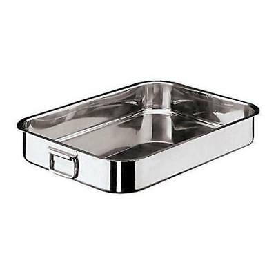 World Cuisine - 11944-40 - 10 1/4 in x 15 3/4 in Stainless Steel Roasting Pan