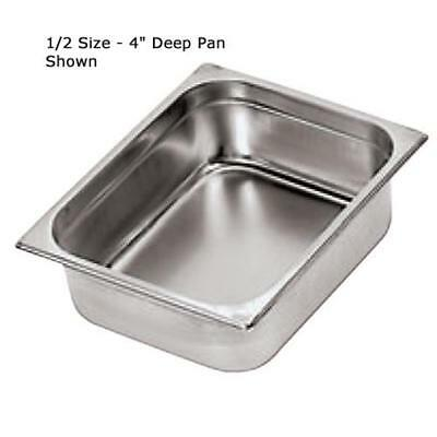 World Cuisine - 14103-10 - Two Third Size 4 in Deep Steam Table Pan