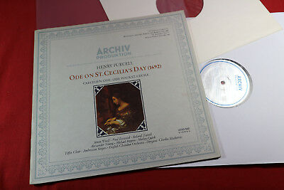 Henry Purcell  ODE ON ST. CECILIA'S DAY  Mackerras LP Archiv 2533042 near mint