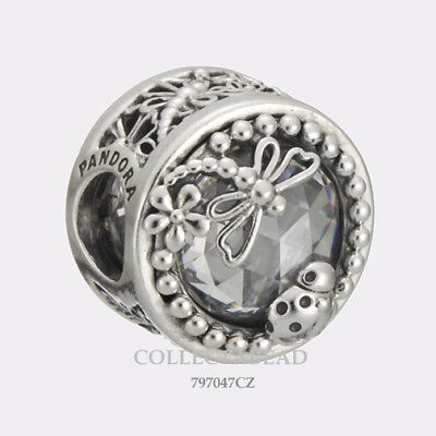 Authentic Pandora Silver Enchanted Nature CZ Bead 797047CZ *NEW SPRING 2018