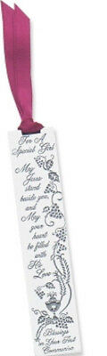 """CA Gift For a Special Girl First Communion Metal Bookmark, 3-1/2"""" FREE SHIPPING"""