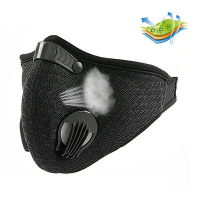 Activated Carbon Filtration Dust Face Mask Dustproof Breathing Respirator Black