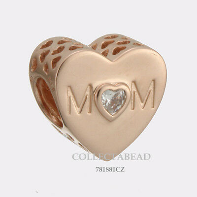 Authentic Pandora Silver ROSE Mother Heart CZ Bead 781881CZ *NEW SPRING 2018