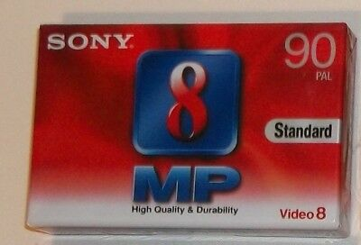 SONY Video 8 PAL 90 Min Blank Camcorder Tape New and Sealed
