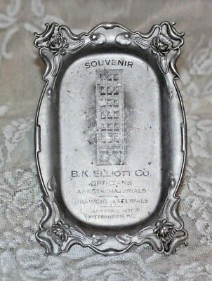 Circa-1900 Pittsburgh, PA B.K. Elliot Co Optician aluminum tip tray-VINTAGE!
