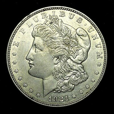 1921 D ~**ABOUT UNCIRCULATED AU**~ Silver Morgan Dollar Rare US Old Coin! #835