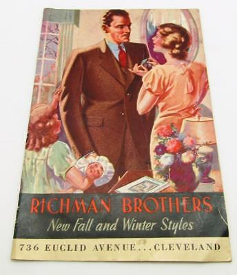 1930's Richman Brothers Cleveland Ohio Men's Suit Catalog Buy for $22.50