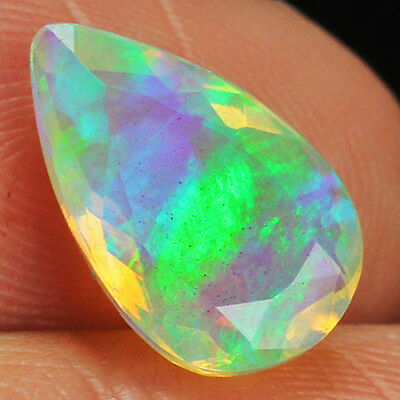 1.7CT 100% Natural Ethiopian Welo Opal Faceted Cut Play Of Color QOL8994