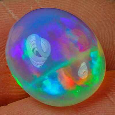 4.5CT 100% Natural Ethiopian Opal Play Of Color Cab SOW5003