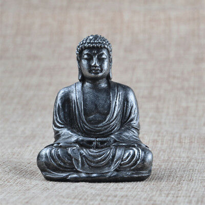 Buddha Statue Sculpture Meditating Antique Style Home Decor Ornament Feng Shui