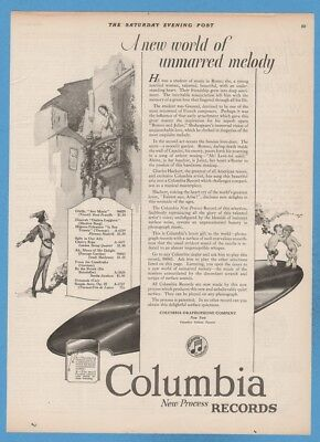 1923 Columbia Phonograph Records Shakespeare Romeo and Juliet Satyr Ad