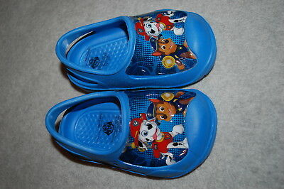 Baby Toddler Boys Shoes BLUE PAW PATROL CLOGS w/ ANKLE STRAP Rubber S 5-6