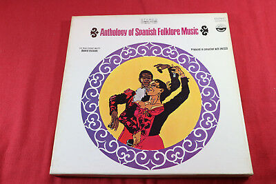 various  ANTHOLOGY OF SPANISH FOLKLORE MUSIC  Everest USA 4 LP-Box sehr gut