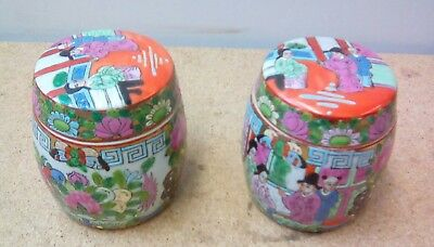2x Chinese Lidded Pots