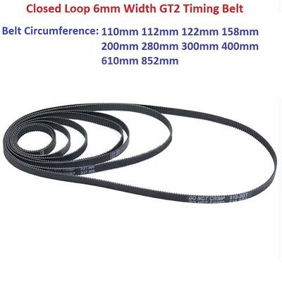 GT2 Timing Belt 6mm Width Closed Loop 2GT-6mm Synchronous Belt CNC - 3D Printer