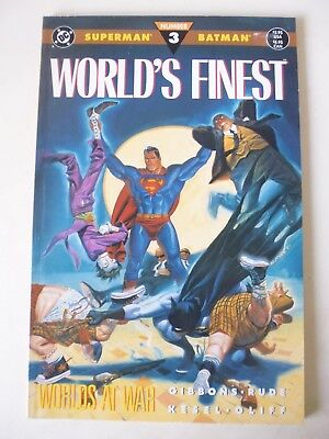 Worlds' Finest Issue # 3. Prestigious Format. Dc Comics 1990. Superman & Batman