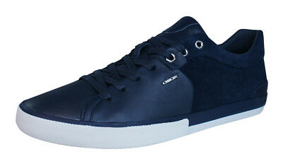 GEOX U SMART F Mens Leather Sneakers Shoes Navy Blue