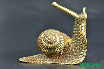 Collectible chinese Old Copper Handwork turbo snail wonder antique rare Statue