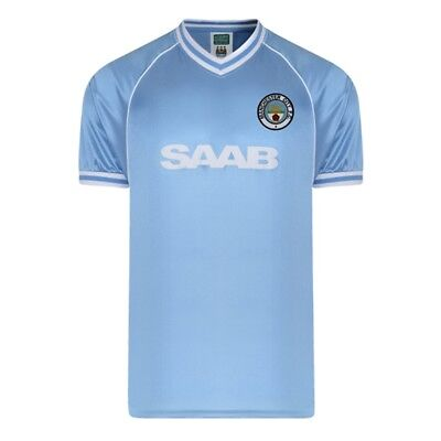 Large Blue Men's Manchester City 1982 Retro Shirt - Official Licensed Football