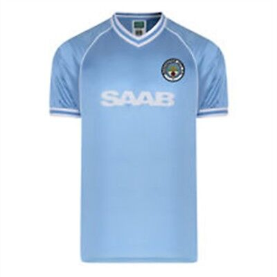 Medium Adult's Manchester City Fc 1982 Shirt - Official Licensed Football