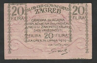 20 Filira From Croatia 1919