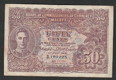 50 Cents From Malaya 1941