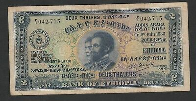 2 Thalers From Ethiopia 1933