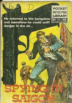 Pocket Detective Library 52 Top Secret Agent Service Suspense Three Picture