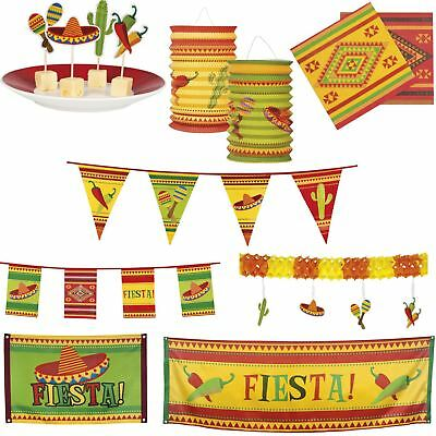 Boland Mexican Fiesta Fancy Dress Party Tableware Decorations Bunting