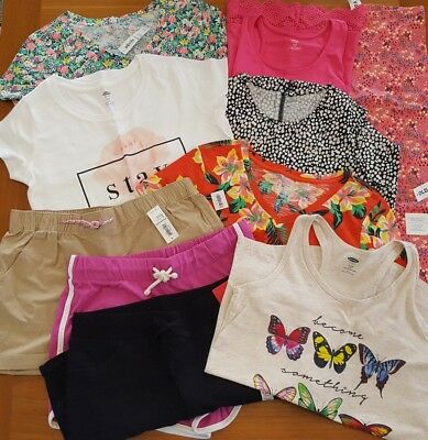 Old Navy Girls SZ 14 Summer Clothing Lot 10 PIECES Tees Tanks Shorts #18-79-18