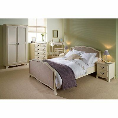 Chantilly Cream Bedroom Furniture - Beds Wardrobe Chest Bedside Shabby Chic