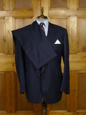 2003 Gieves & Hawkes Navy Blue Worsted 3-Piece Suit 50 Reg To Long