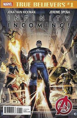 Infinity Incoming Comic Issue 1 Classic Reprint True Believers Modern Age 2018