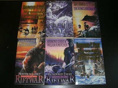 6 x Assorted Fantasy Books by Raymond E. Feist