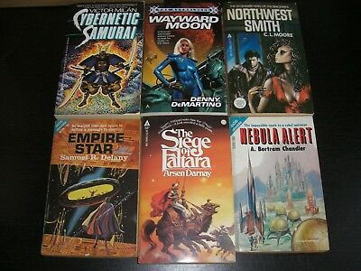 6 x Assorted Science Fiction Books by Various (2 x ACE Doubles)